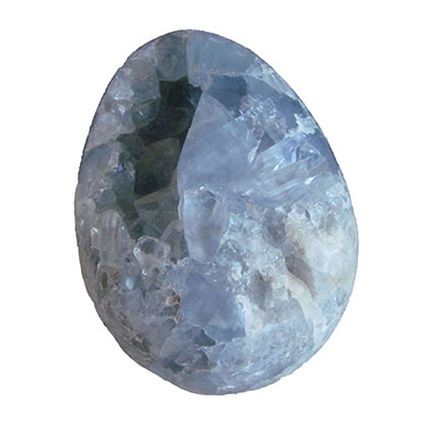 Celestite Crystal Egg 3 x 2 F
