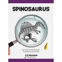 Spinosaurus Childrens' Book With Real Fossil Spinosaurus Tooth