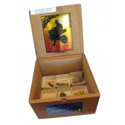 The Wooden Cigar Box Fossil Collection 6pc