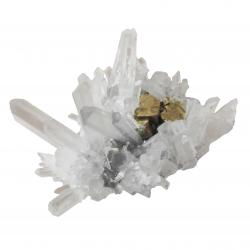Quartz Crystals on Pyrite Cubes